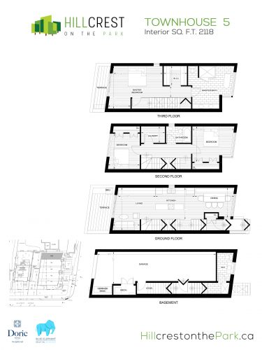 Hillcrest on the Park Floorplan - TH5
